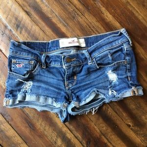 Hollister low rise cut off jean shorts